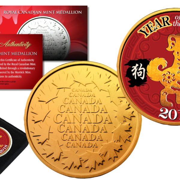 Bill RED POLYCHROME Edition YEAR of the DOG Chinese Zodiac Official $2 U.S